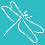Gelukspraktijk logo van libelle als symbool van geluk