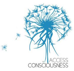 Access Consciousness logo van paardebloem zaadjes